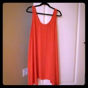 BCBGMaxAzria Poppy color asymmetrical dress